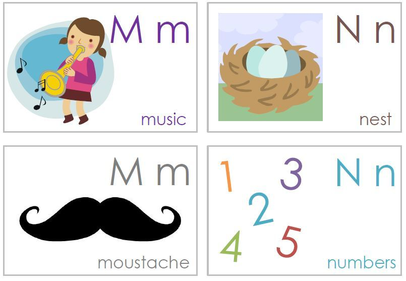 буквы m и n в английском алфавите