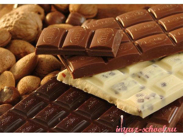 история шоколада на английском языке упражнения