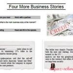 Деловой английский. Упражнение «Four More Business Stories»