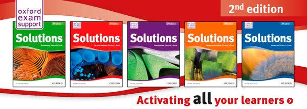 Серия Solutions от Oxford. Курсы английского языка для школьников в центрах Юниум используют в своей работе эту учебную серию.