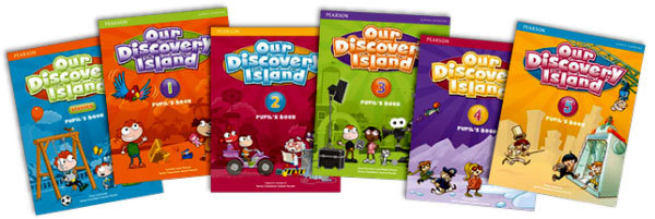 Учебники для детей Our Discovery Island от Pearson.