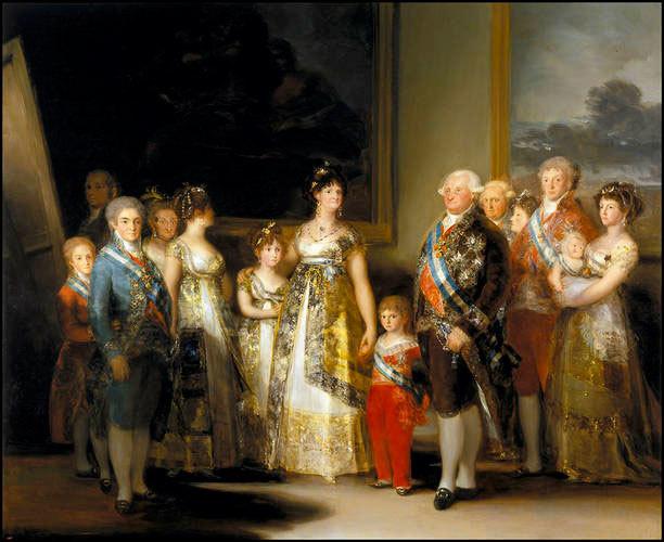 Портрет семьи короля Карла IV