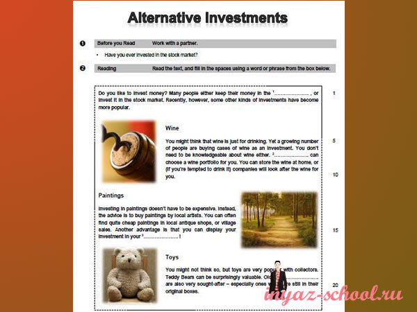 задания по английскому для уровня Pre-Intermediate (1)