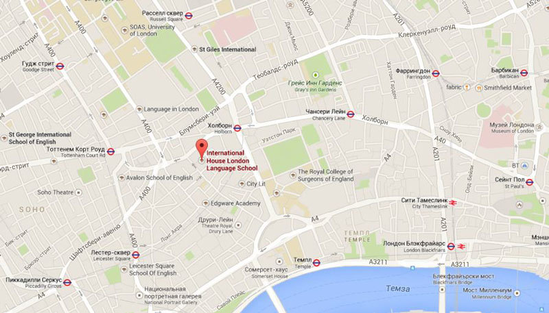 International House London на карте города