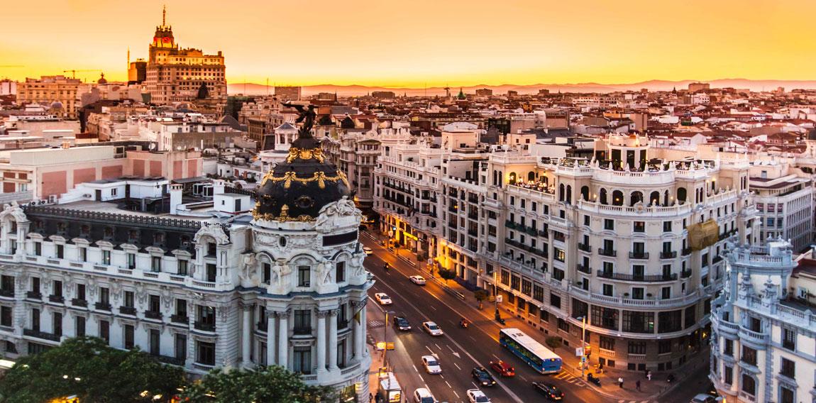 Мадрид на закате